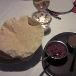 Tadsch Mahal Vorspeise Soßen Brot