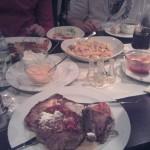 Überblick Speisen auf Tisch