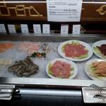 Livebar Fisch Fleisch und Garnelen