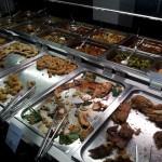 Scampi Fish und Fleisch