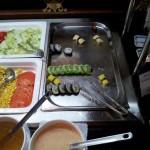 Sushi und Gemüse